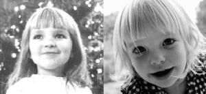 Mel aged 5, Eleanor aged 2.5