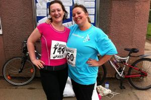 Me & Lorraine before we got too sweaty & hectic