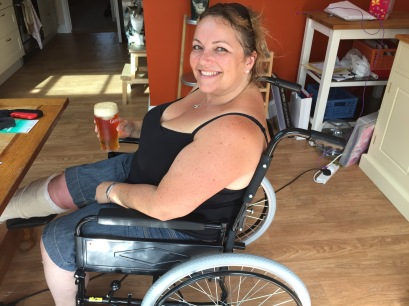 mel in wheelchair